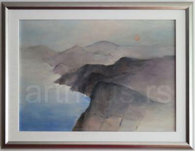 Ksenija Divljak, Morski pejzaž, ulje na platnu, 50x70 cm