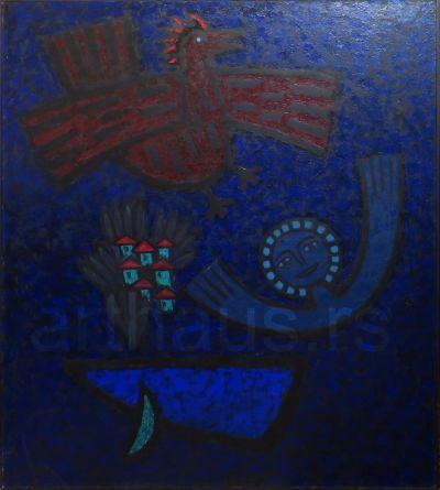 Lazar Vujaklija, Jutro, 1965, ulje na platnu, 140x125 cm