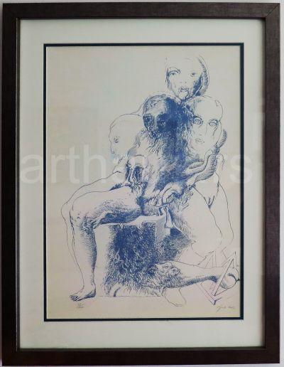 Ljubomir Ljuba Popović, Bez naziva, 1982, litografija, 28/100, 71x50 cm