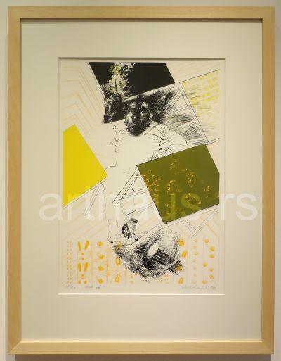 Mladen Srbinović, Test A, 1998, litografija, 24/100, 70x50 (58x42) cm