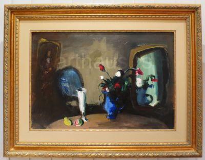 Nikola Graovac, Mrtva priroda sa ogledalom, ulje na platnu, 50x73