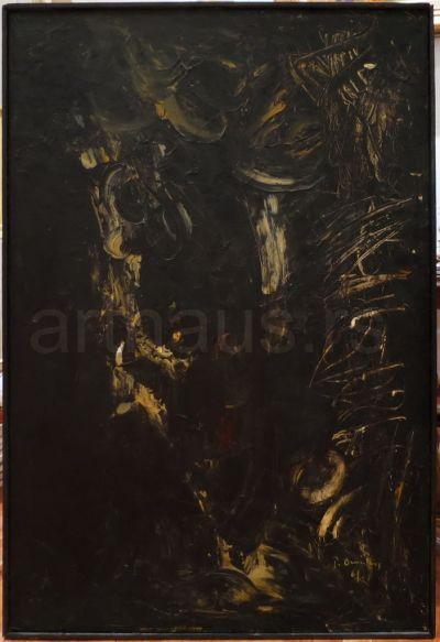 Petar Omčikus, Kompozicija, 1961, ulje na platnu, 130x90 cm (izlagana i reprodukovana)