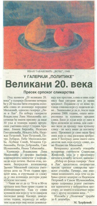Politika, 10.11.2004.