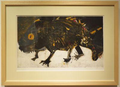 Sonja Vlahović, Kameleon, 1988, akvatinta, 1/4, 50x65 (38x63) cm