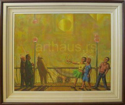 Vojo Stanić, Žuta promenada, 2004, ulje na platnu, 64x80cm