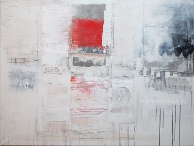 Nikola Žigon, Things may have occurred, 2012, combined technique on canvas, 120x160 cm