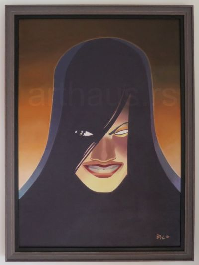 Đile Marković, You Don't Say, 2016, akril na platnu, 70x50 cm.
