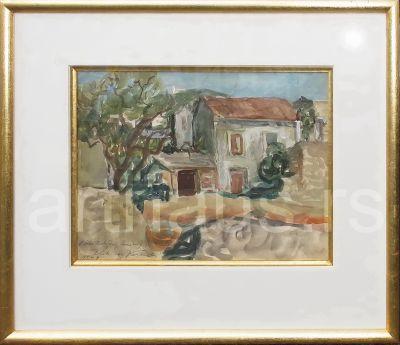 Kosa Kosara Bokšan, Blato na Korčuli, 1949, akvarel na papiru, 30x40 cm