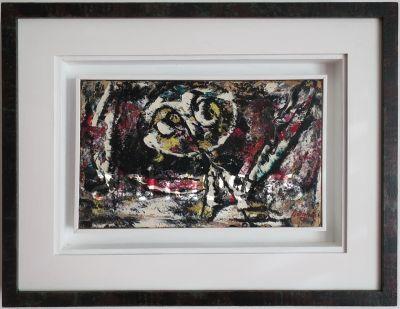 Mario Maskareli, Iščekivanje, 1959, ulje na papiru kaširano na platno, 17x28 cm